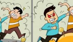 逗爆蛋蛋系列漫画 第110期 ——打架